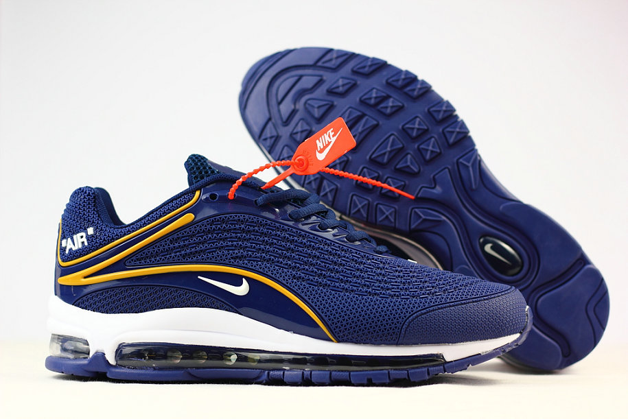 Wholesale Cheap Nike Air Max 2019 Running Shoes Blue Yellow White
