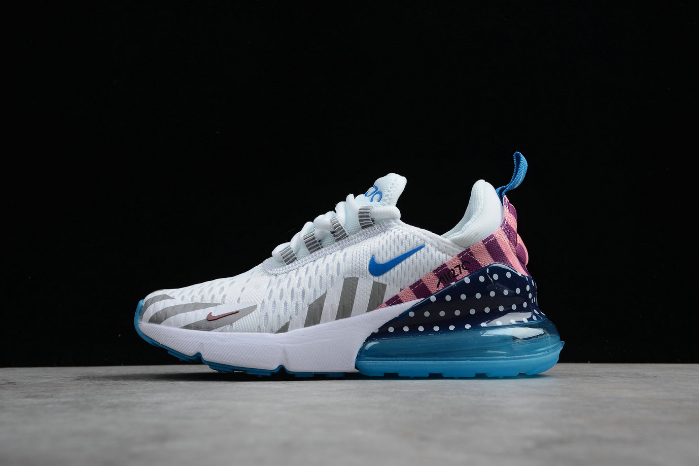 Wholesale Cheap Nike Air Max 270 AH6789-020 Mens Running Shoes White Blue Pink