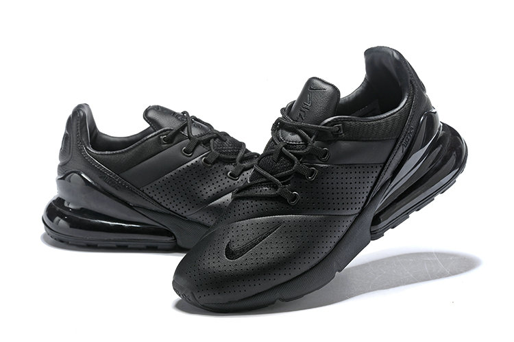 Wholesale Cheap Nike Air Max 270 Leather All Black