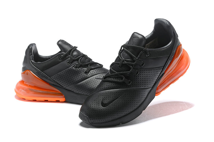 Wholesale Cheap Nike Air Max 270 Leather Black Orange