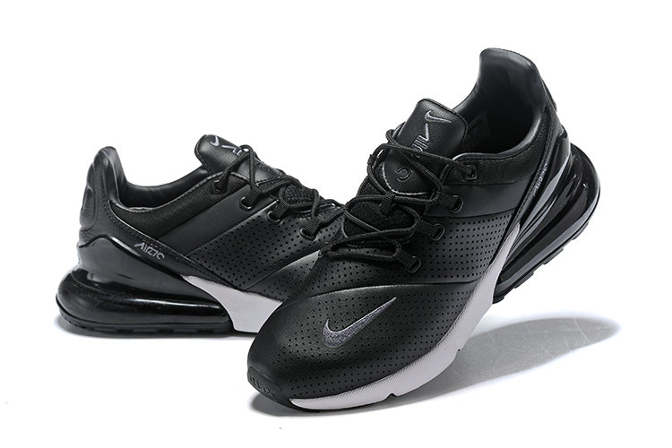 Wholesale Cheap Nike Air Max 270 Leather Black White