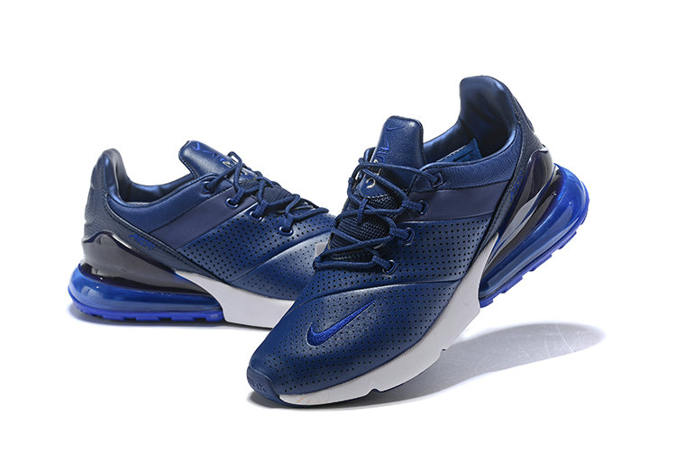 Wholesale Cheap Nike Air Max 270 Leather Royal Blue White