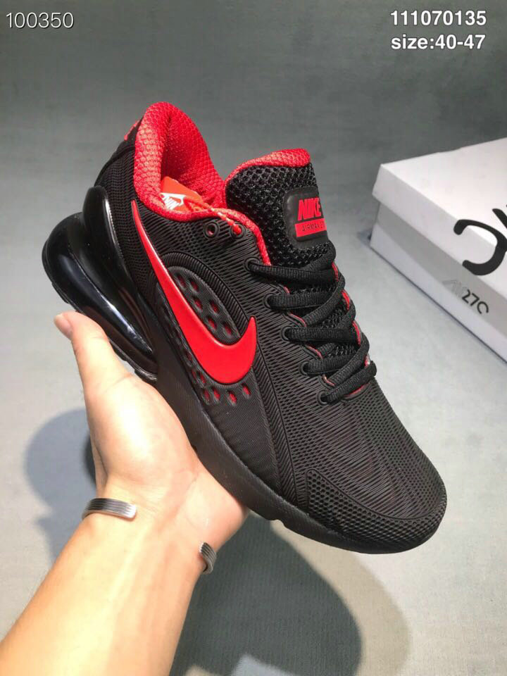Wholesale Cheap Nike Air Max 270 RUBBER LABEL Red Black