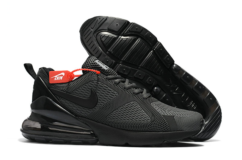 Wholesale Cheap Nike Air Max 270 Running Shoes Rubber Label All Black