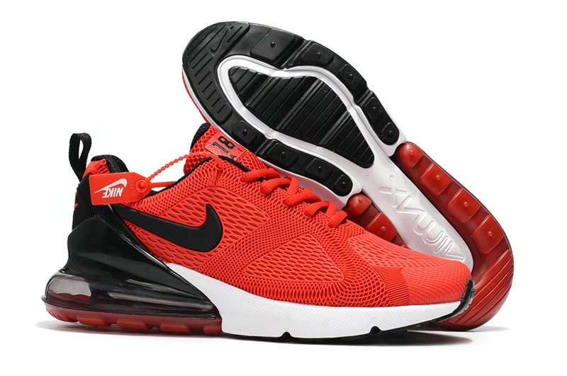 sports shoes ed6d8 69a48 Wholesale Cheap Nike Air Max 270 Running Shoes Rubber Label Red Black White