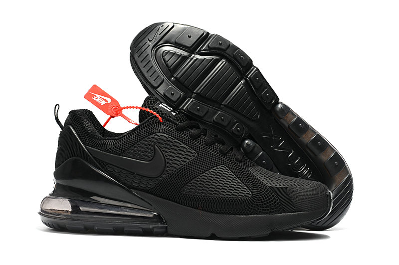 Wholesale Cheap Nike Air Max 270 Running Shoes Rubber Label Triple Black