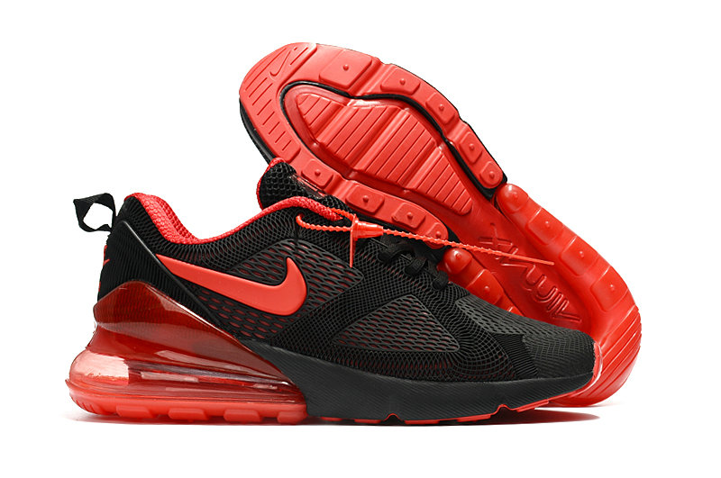 Wholesale Cheap Nike Air Max 270 Running Shoes Rubber Label University Red Black
