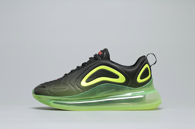 Wholesale Cheap Nike Air Max 720 Black Fluorescent Green Noir Fluorescent Vert A02924-008