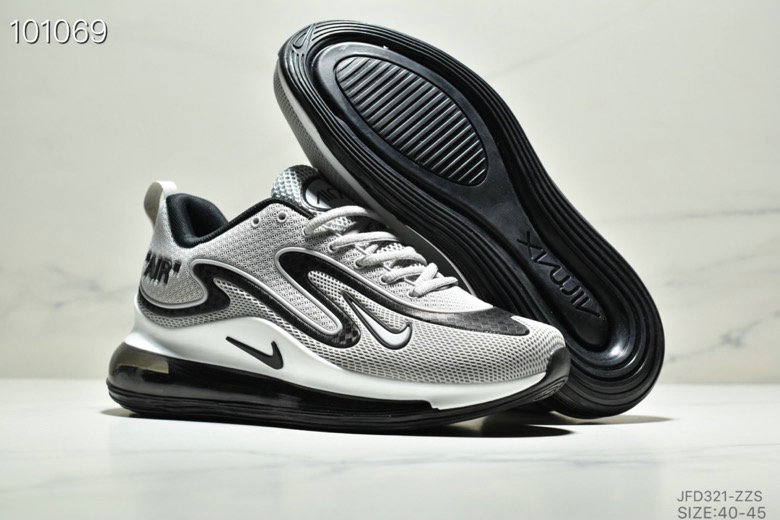 Wholesale Cheap Nike Air Max 720 PRM Metallic Silver Black White