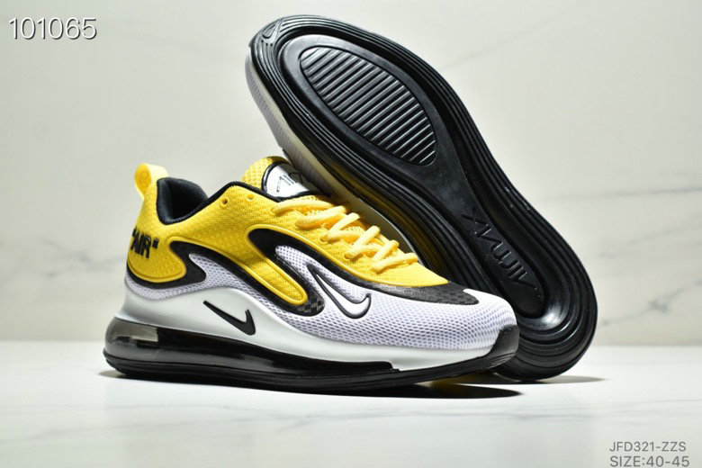 Wholesale Cheap Nike Air Max 720 PRM Yellow White Black