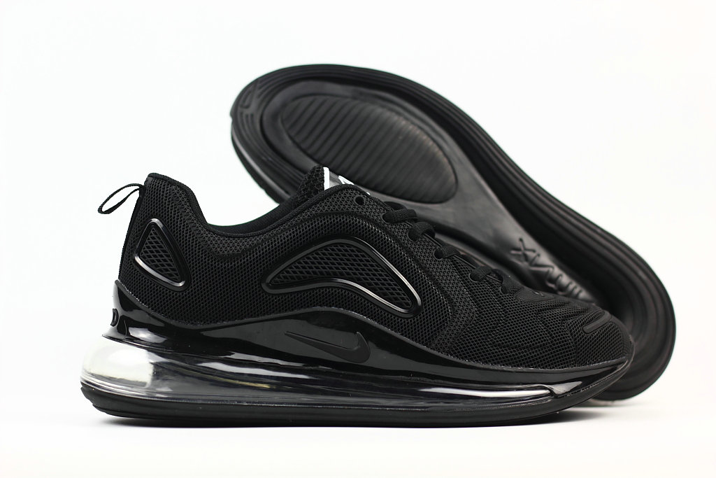 Wholesale Cheap Nike Air Max 720 Rubber Patch All Black
