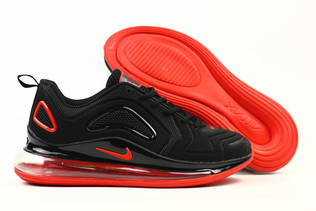 Wholesale Cheap Nike Air Max 720 Rubber Patch Fire Red Black