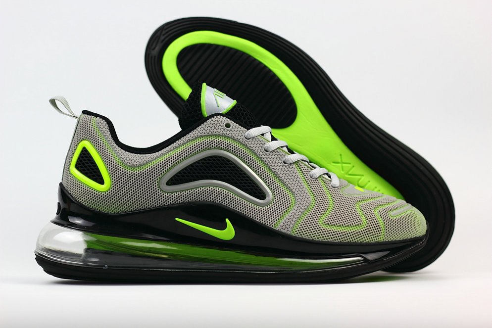Wholesale Cheap Nike Air Max 720 Rubber Patch Fluorescent Green Grey