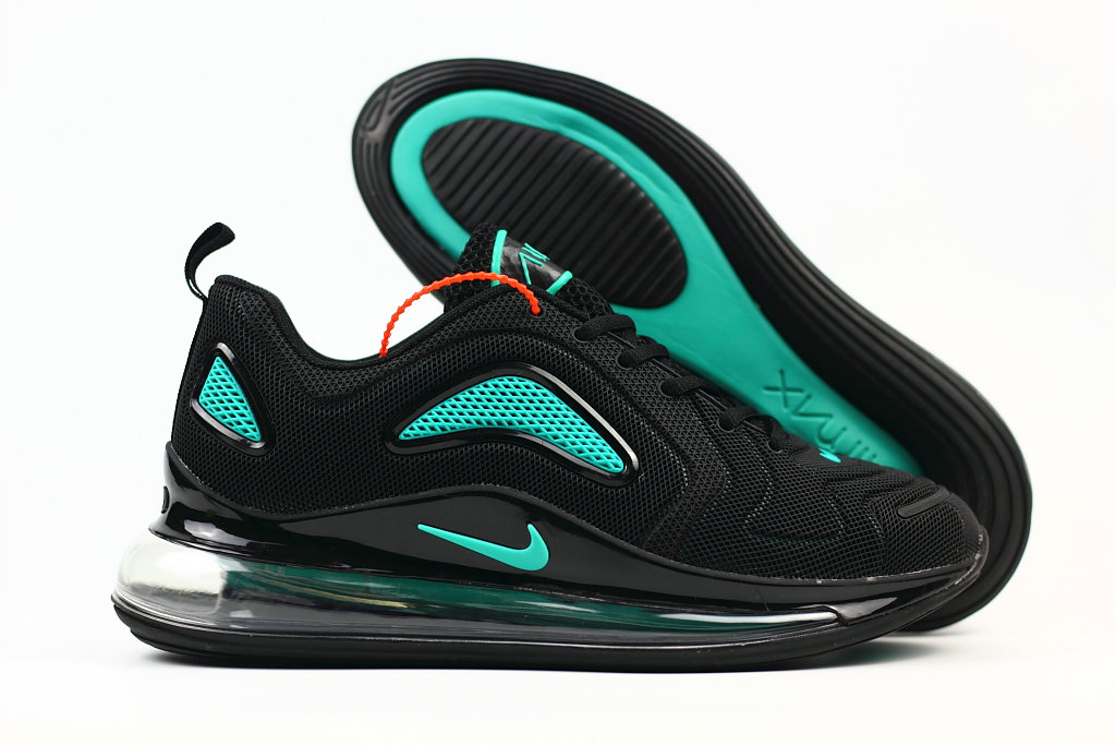 Wholesale Cheap Nike Air Max 720 Rubber Patch Jet Black
