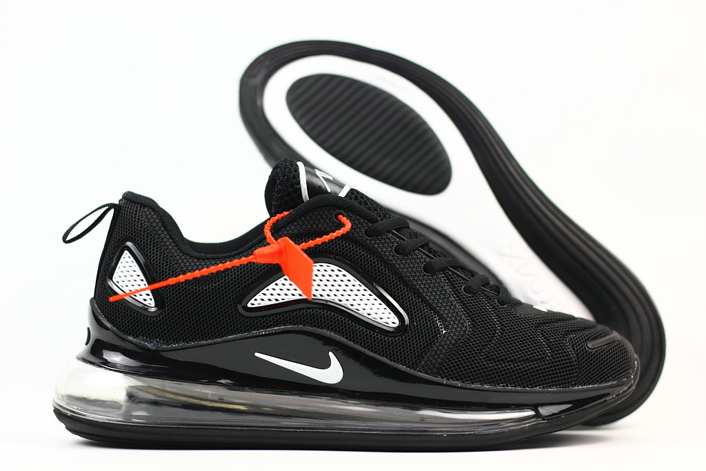 Wholesale Cheap Nike Air Max 720 Rubber Patch White Black
