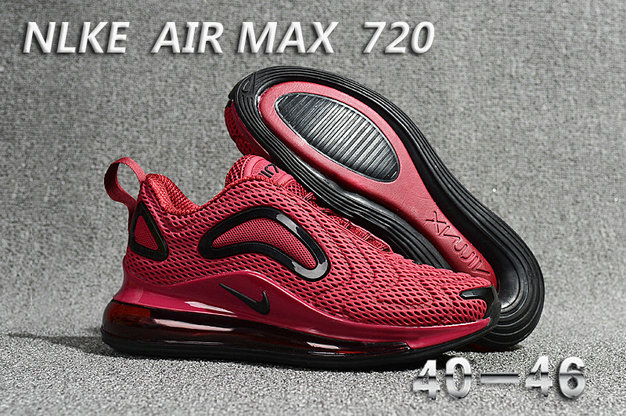 Wholesale Cheap Nike Air Max 720 Wine Red Black