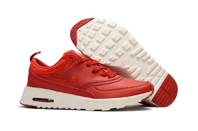 Cheap Wholesale Nike Air Max 87 Womens Leather Red White