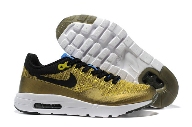Cheap Wholesale Nike Air Max 87 Womens Yellow Black White
