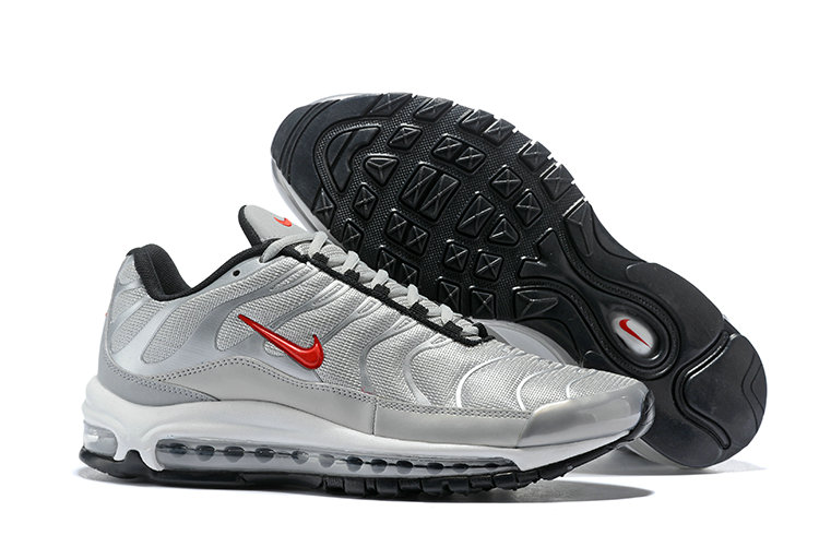 Wholesale Cheap Nike Air Max 97 Plus Max TN Silver Red Black
