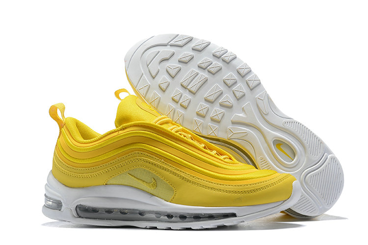 Wholesale Cheap Nike Air Max 97 Running Shoes Yellow White