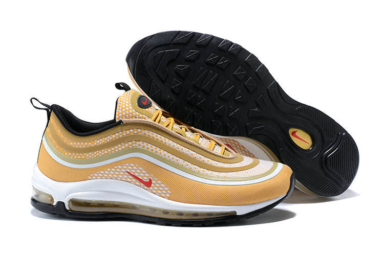 Cheap Wholesale Nike Air Max 97 Ultra  17 Gold Red Black White