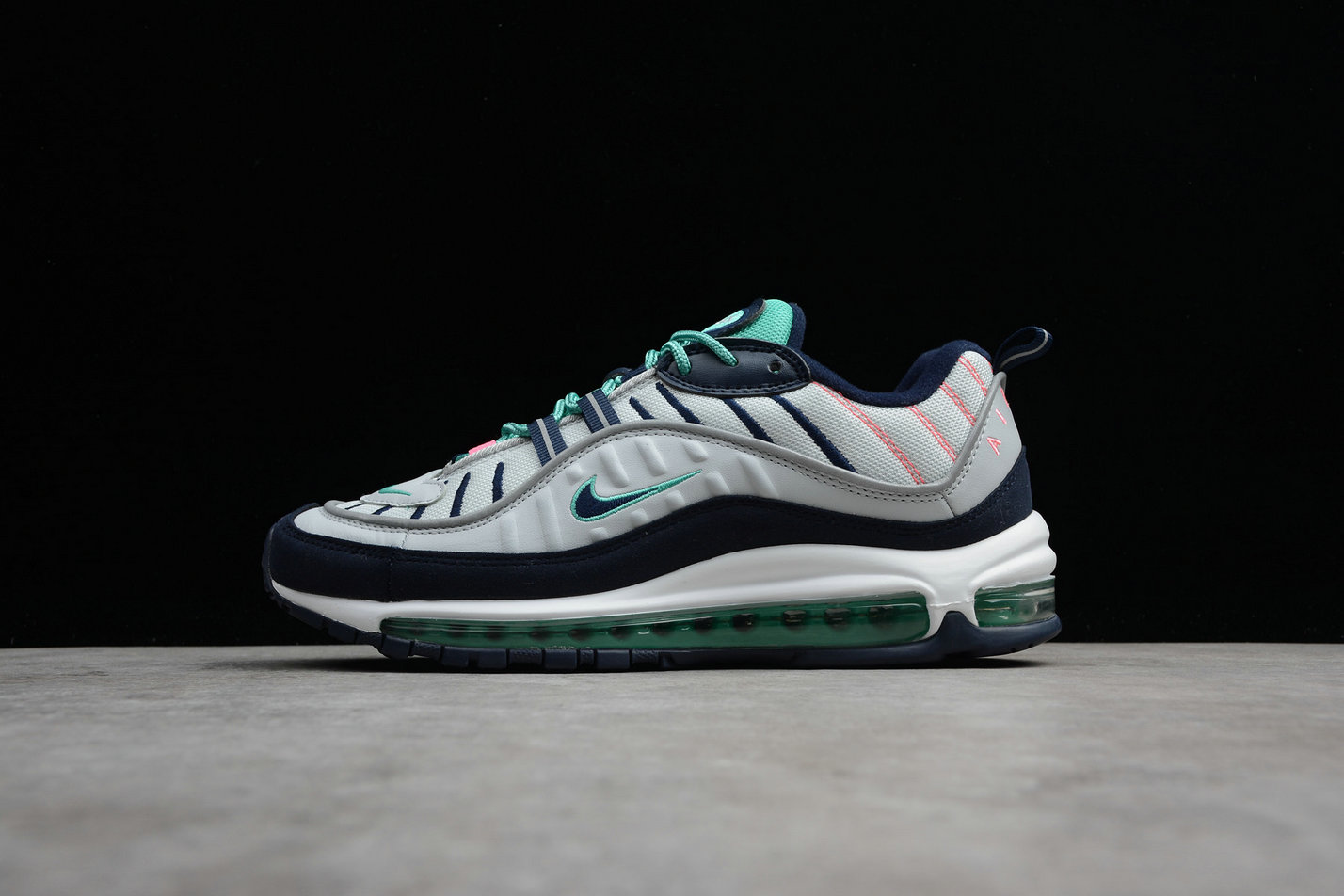Wholesale Cheap Nike Air Max 98 640744-005 Pure Platinum Obsidian Platine Pur Obsidienne