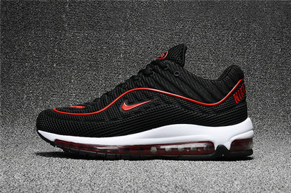 Cheap Wholesale Nike Air Max Supreme x 98 Mens Black Fire Red White Running Shoes
