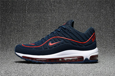 Cheap Wholesale Nike Air Max Supreme x 98 Mens Fire Red Navy Blue White Running Shoes