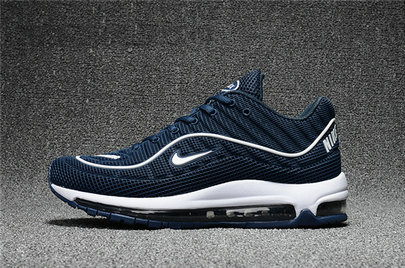 Cheap Wholesale Nike Air Max Supreme x 98 Mens Navy Blue White Running Shoes