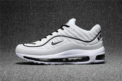 Cheap Wholesale Nike Air Max Supreme x 98 Mens White Grey Black Running Shoes