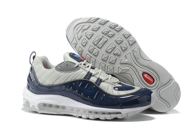 Cheap Wholesale Nike Air Max 98 Supreme Navy Blue Grey