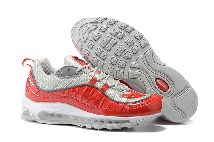 Cheap Wholesale Nike Air Max 98 Supreme Red Grey White