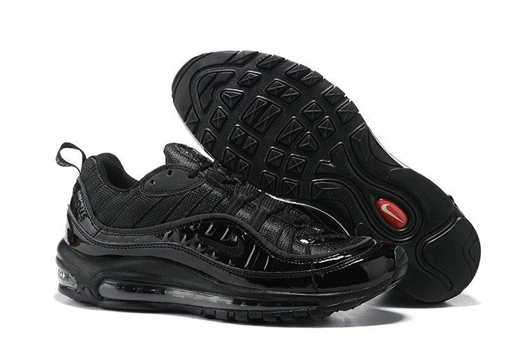 Cheap Wholesale Nike Air Max 98 Supreme Total Black