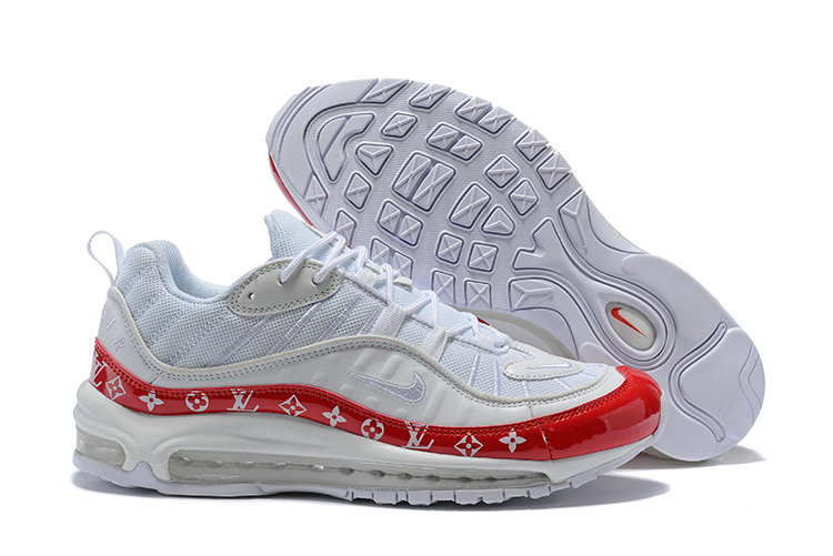 Wholesale Cheap Nike Air Max 98 Supreme University Red White