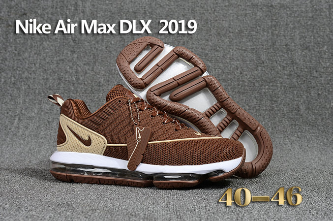 Cheap Wholesale Nike Air Max DLX 2019 Brown Beige White Running