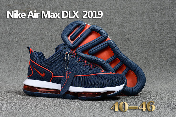 more photos 958db 16cf2 Cheap Wholesale Nike Air Max DLX 2019 Navy Blue Red White Running