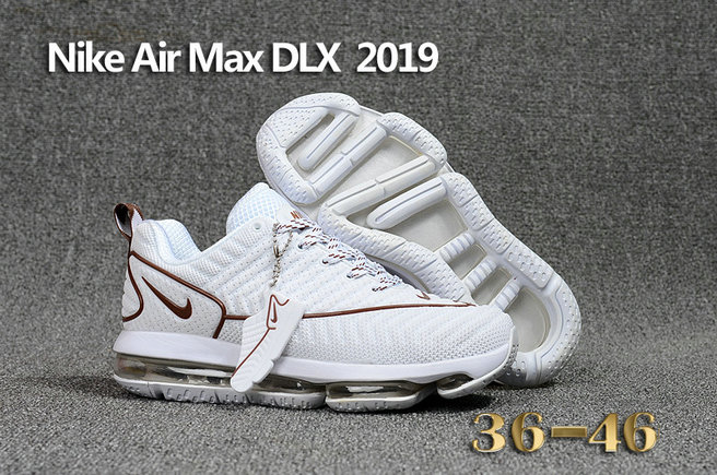 Cheap Wholesale Nike Air Max DLX 2019 Womens Beige White Brown Running