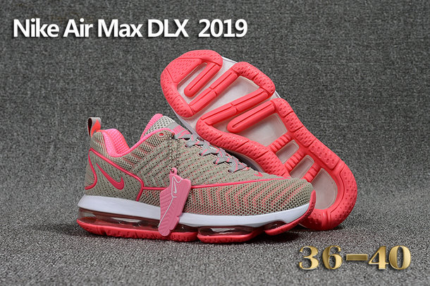 Cheap Wholesale Nike Air Max DLX 2019 Womens Grey Pink White Running