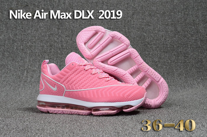 Cheap Wholesale Nike Air Max DLX 2019 Womens Pink White Running