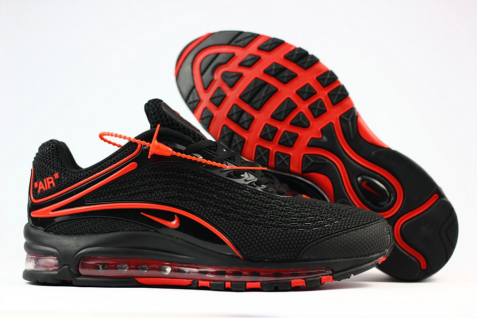 Wholesale Cheap Nike Air Max Deluxe 2019 Fire Red Black Running Shoes