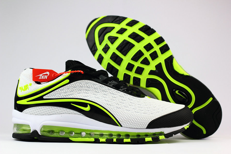 Wholesale Cheap Nike Air Max Deluxe 2019 Fluorescent Green White Black Running Shoes
