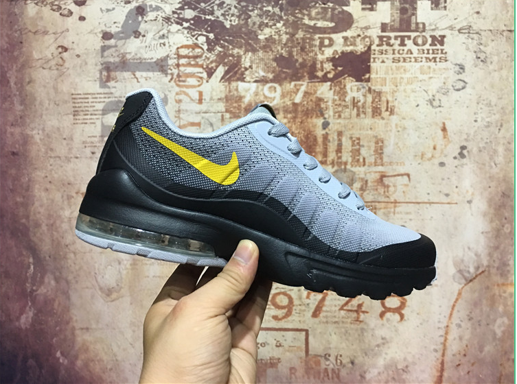 Cheap Wholesale Nike Air Max Invigor Mens Womens Yellow Grey Black