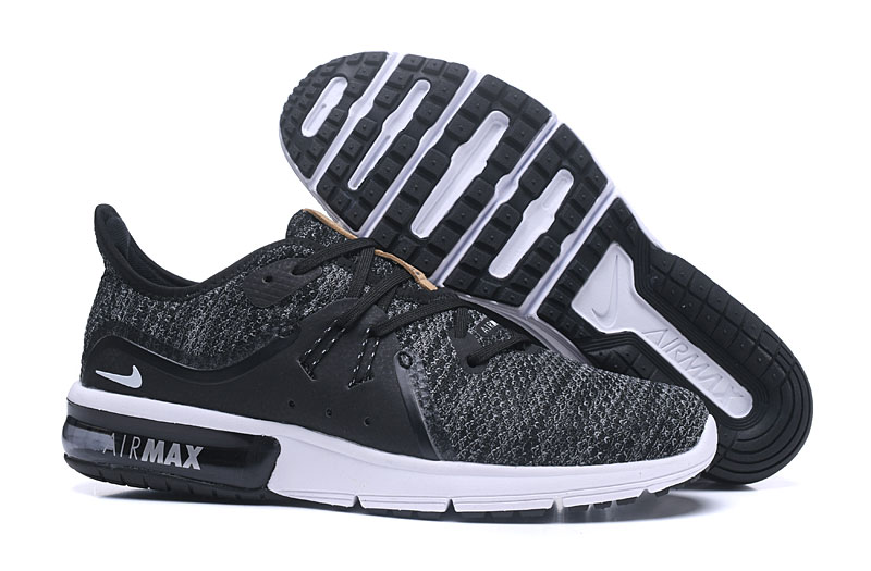 Cheap Wholesale Nike Air Max Sequent Black Dark Grey White Running Shoes