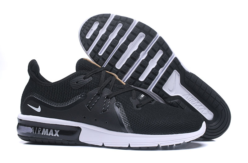Cheap Wholesale Nike Air Max Sequent Black White Grey Running Shoes