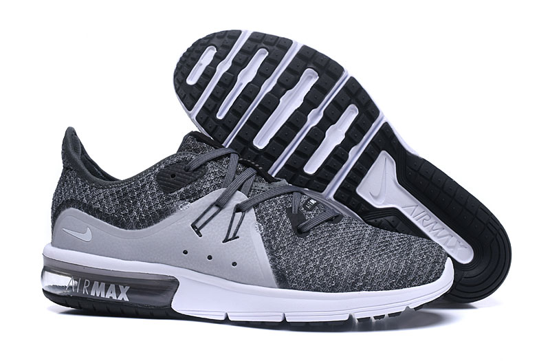 Cheap Wholesale Nike Air Max Sequent Grey White Running Shoes