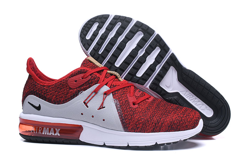 Cheap Wholesale Nike Air Max Sequent Red Grey White Black Running Shoes