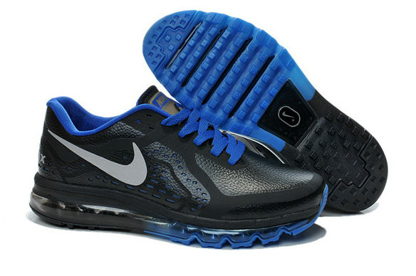 Cheap Wholesale Nike Air Maxs 2014 Leather Blue Black White