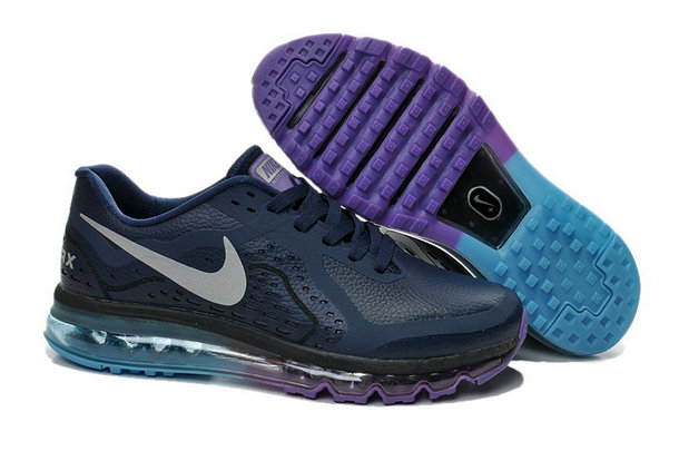 Cheap Wholesale Nike Air Maxs 2014 Leather Purple Black Grey