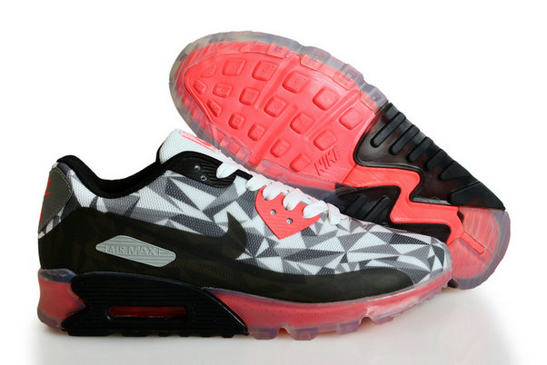 Cheap Wholesale Nike Air Maxs 90 ICE Black Red White