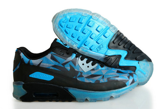 Cheap Wholesale Nike Air Maxs 90 ICE Blue Black